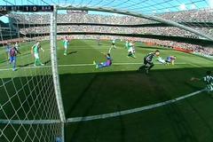 """Video Barca bị trọng tài """"cướp"""" trắng bàn thắng"""