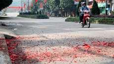 Hà Tĩnh: Xác minh thông tin xác pháo đầy đường sau giao thừa
