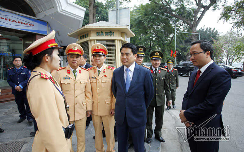 Chủ tịch Hà Nội dự lễ ra quân của Cảnh sát giao thông