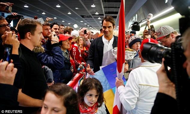 Federer được chào đón như người hùng ở quê nhà