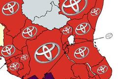 Các nước trên thế giới 'chuộng' thương hiệu ôtô nào nhất?
