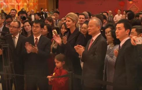 Ivanka Trump tới chúc Tết Đại sứ quán Trung Quốc