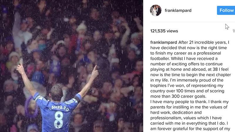 'Người không phổi' Lampard giải nghệ ở tuổi 38