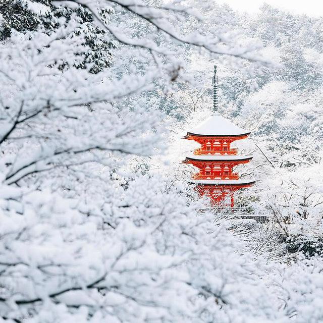 Tuyết rơi dày biến cố đô nước Nhật thành xứ thần tiên