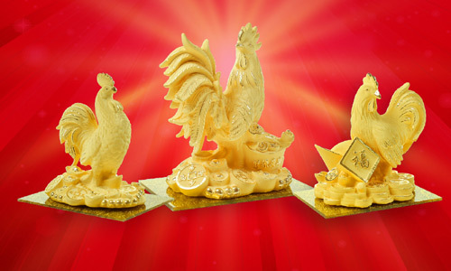 'Săn' gà trống vàng độc lạ trước ngày Thần Tài