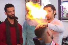 Thợ cắt tóc 'đốt đầu' khách cháy đùng đùng