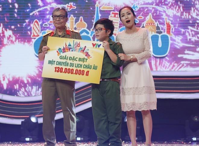 Con trai Công Lý chiến thắng 130 triệu đồng ở gameshow