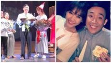 Hari Won bất ngờ mừng sinh nhật Trấn Thành trên sân khấu
