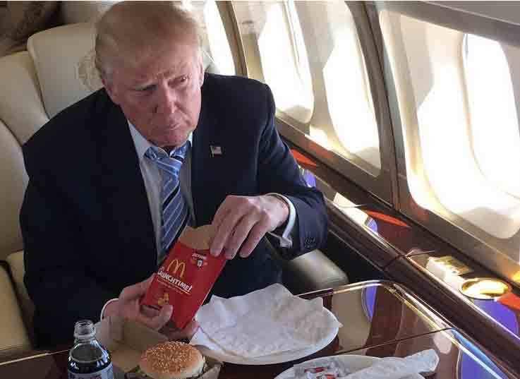 Hé lộ nguyên nhân Trump 'nghiện' đồ ăn nhanh