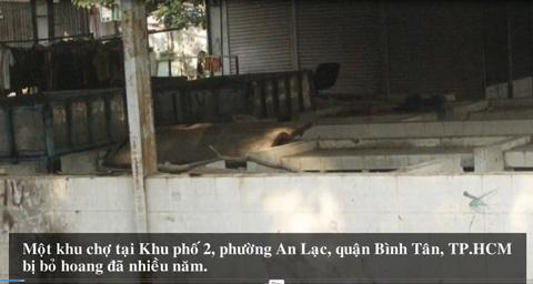 Khu chợ 'ma' giữa lòng Sài Gòn