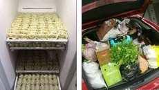 Ngồn ngộn bánh trái, thịt thà trong tủ lạnh sau Tết
