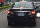 Xe biển xanh của Cục thuế Hà Nội lấn làn buýt nhanh