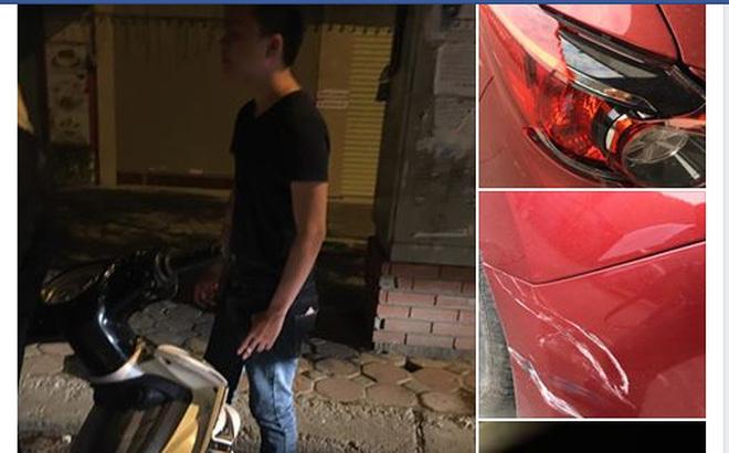 Thanh niên say rượu 'quyết' chờ chủ xe bị đâm để xin lỗi, đền tiền