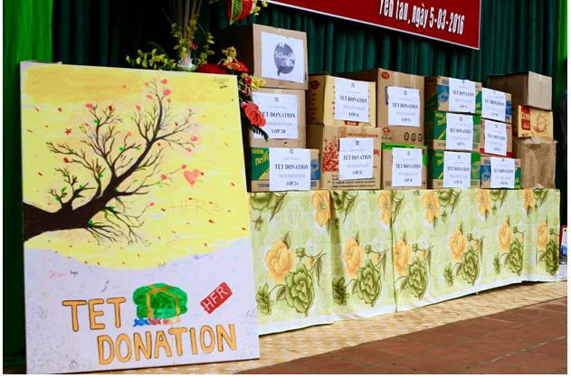 Bạn trẻ Hà thành quyên góp đồ ăn, bánh kẹo sau Tết làm từ thiện