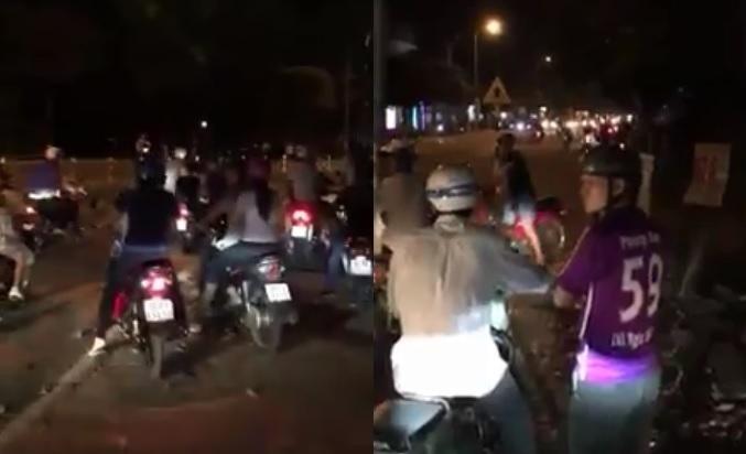 Hai băng nhóm cầm dao kiếm hỗn chiến náo loạn giữa phố