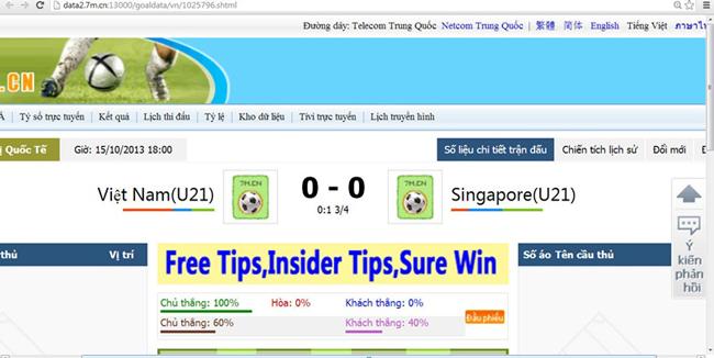 Cá độ bóng đá, tiêu cực bóng đá, VLeague, U23 Việt Nam, ĐTVN