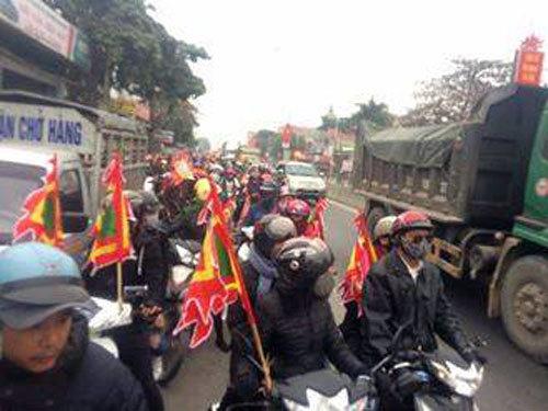 Một số giáo dân ở Quỳnh Lưu bị kích động tụ tập