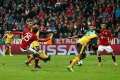 Thua thảm Bayern, Arsenal lập thêm kỷ lục buồn