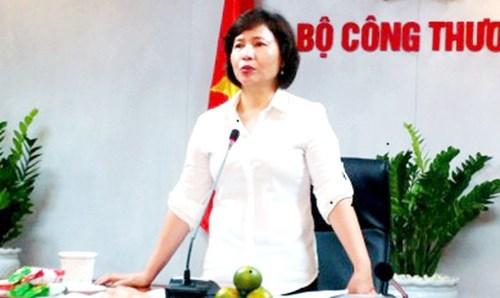 Thứ trưởng Kim Thoa, hồ thị kim thoa, thứ trưởng bộ công thương, công ty cổ phần điện quang