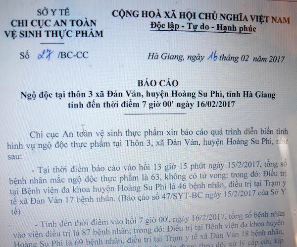 Vụ ngộ độc cỗ cưới ở Hà Giang, số người cấp cứu tăng lên 87