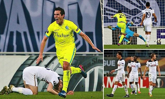 Tottenham thua sấp mặt ở Europa League