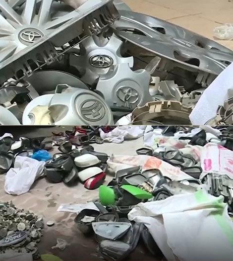 Đột kích kho chứa phụ tùng ô tô ở chợ Trời - ảnh 4