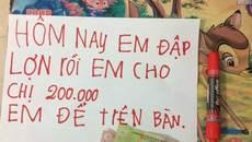 Lời nhắn của em trai tiểu học khiến chị gái 'òa khóc'