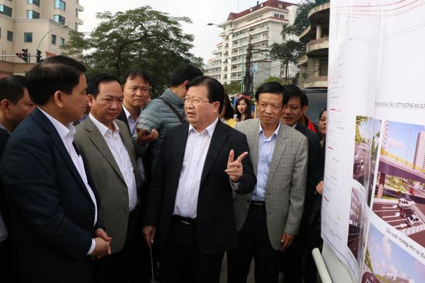 kết cấu đê sông Hồng, hạ cốt đê, Hà Nội, Phó Thủ tướng Trịnh Đình Dũng