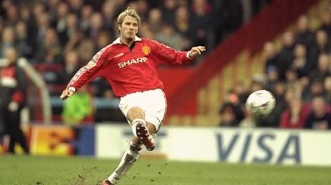 Siêu phẩm từ giữa sân của cựu danh thủ David Beckham