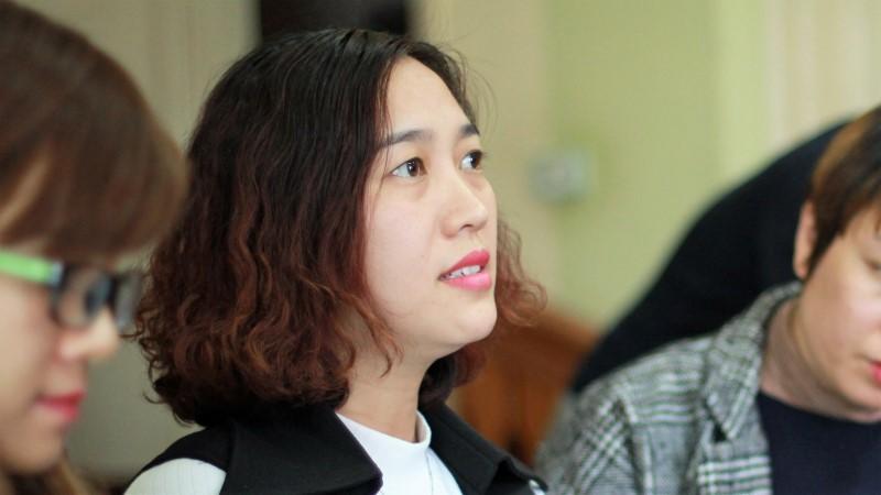 tai nạn, trường tiểu học nam trung yên, học sinh bị xe đâm gãy chân, cô hiệu trưởng, Tạ Thị Bích Ngọc