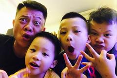 MC Quang Minh VTV khoe 3 con trai giống bố như đúc