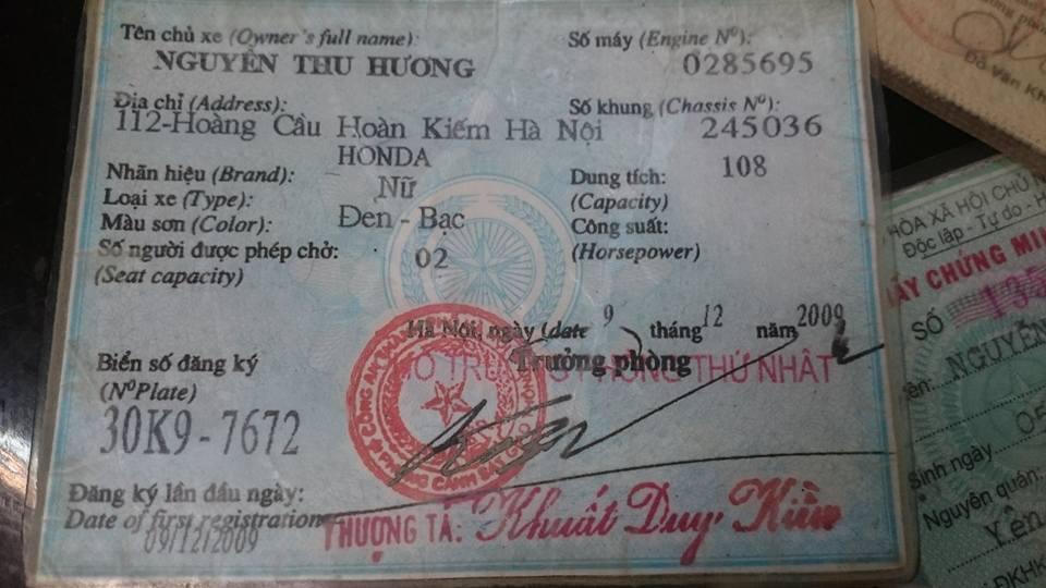 Hà Nội: Bất ngờ nhận lại xe máy sau 5 năm bị mất