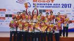 Nhật Bản đăng quang giải cầu lông đồng đội châu Á