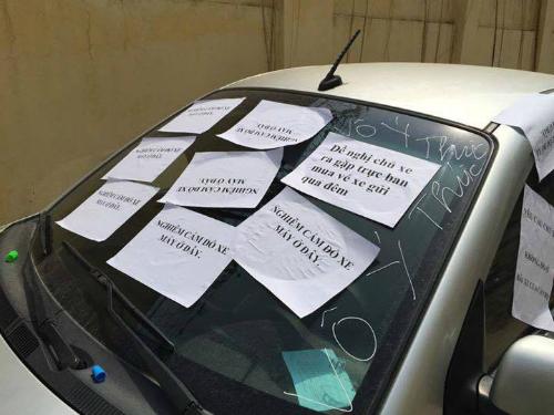 Muôn vàn cách trừng trị thói đỗ ô tô vô ý thức