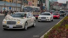 Đám cưới toàn siêu xe và xe sang tại Hà Nội
