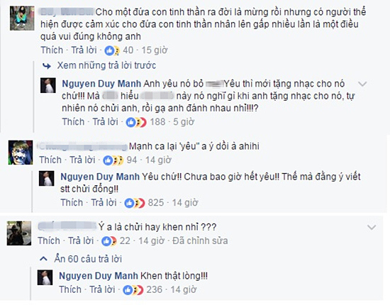 Nghi vấn Tuấn Hưng, Duy Mạnh 'đá xoáy' nhau trên Facebook