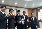 Xuân Trường bảnh bao trong lễ bổ nhiệm đại sứ Gangwon