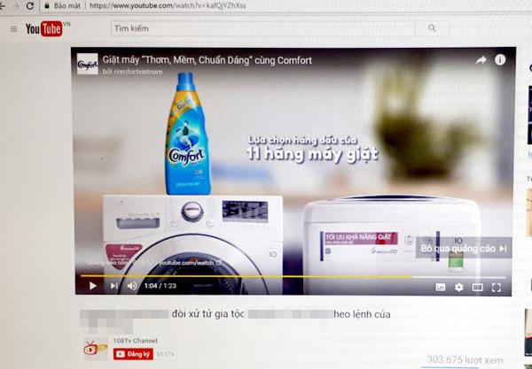 sai phạm quảng cáo, quảng cáo YouTube, Việt Nam,