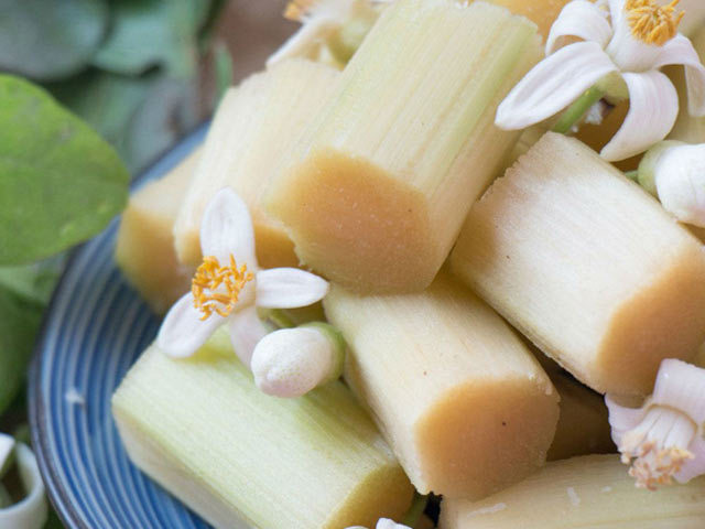 món ngon, hướng dẫn nấu ăn, mía, hoa bưởi