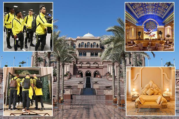Thầy trò Guardiola ăn ở như bậc đế vương ở Abu Dhabi