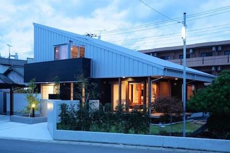 thiết kế nhà đẹp, nhà xấp 4, nhà theo phong cách Nhật Bản