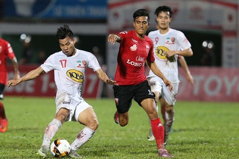 Long An 0-2 HAGL Văn Thanh goal 90+4