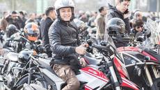 Diễn viên Hồng Đăng diễu hành motor trước show tưởng nhớ Trần Lập