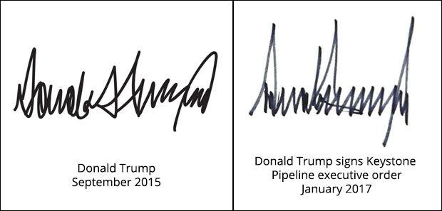 Donald Trump, tổng thống Trump, tổng thống Mỹ Trump, chữ ký, chữ ký Trump
