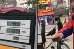 Đổ xăng thiếu 80 đồng, khách bắt nhân viên cây xăng bơm thêm