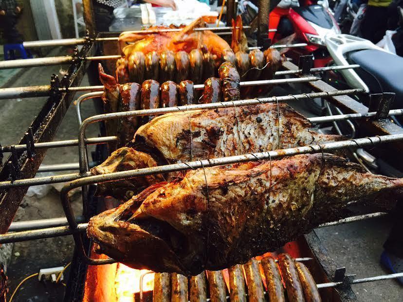 cá nướng Tây Bắc, cá nướng, cá rô phi nướng