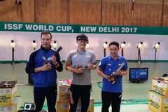 Hoàng Xuân Vinh chỉ giành HCB Cúp bắn súng thế giới