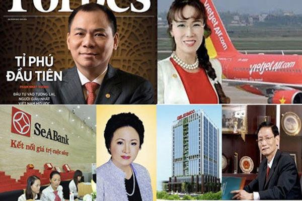 siêu giàu, người siêu giàu, tỷ phú đôla, tỷ phú USD, giàu nhất Việt Nam