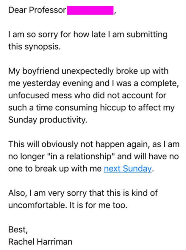 Nộp bài muộn vì bị bạn trai chia tay, nữ sinh nhận hồi âm bất ngờ từ giáo sư