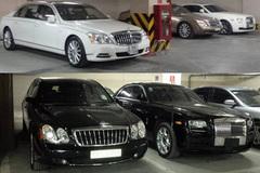 4 chiếc Maybach tại một căn hầm toàn xe siêu sang ở Hà Nội